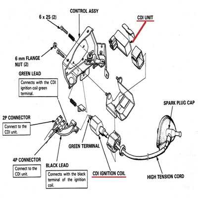 honda 5013 cdi combination relay fuel controlhonda cdi combination relay no spark discontinued parts